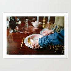 Setting The Table Art Print