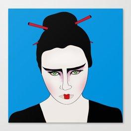 Grumpy Geisha // Japanese Style Canvas Print