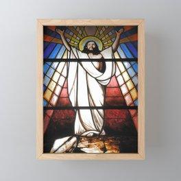Stained glass window Framed Mini Art Print