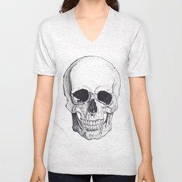 Skull by Carla Marroquín Unisex V-Neck