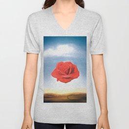 Salvador Dali - Meditative Rose - 1958 Restored Artwork for Wall Arts, Prints, Posters, Tshirts, Men, Women, Kids Unisex V-Neck