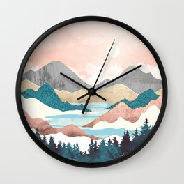 Lake Sunrise Wall Clock