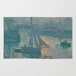 Claude Monet - Marine Sunrise, 1873 Rug