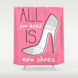 Girly Shoes #grl Shower Curtain