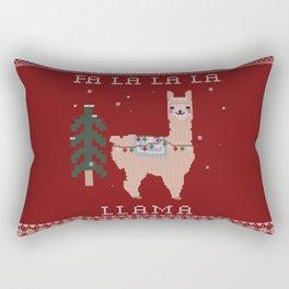 Festive Llama Rectangular Pillow