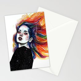 Phoenix girl Stationery Cards