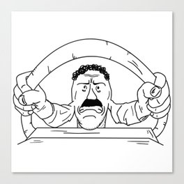 Road rager Canvas Print