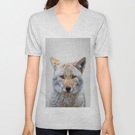 Coyote - Colorful Unisex V-Neck
