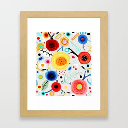 Amazing floral handmade drawing Framed Art Print