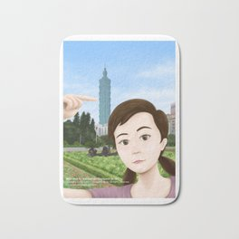 Fern Selfie with Taipei 101 Bath Mat