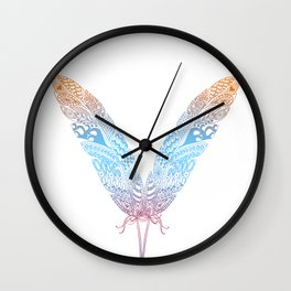 feather butterfly Wall Clock
