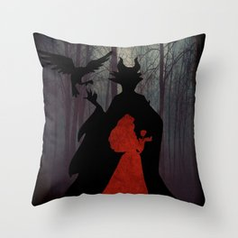 Maleficent & Aurora as One Throw Pillow