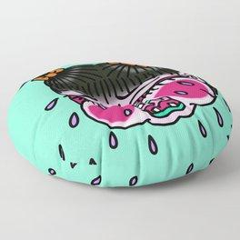 Cry Baby Girl Floor Pillow