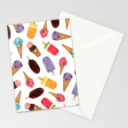 Ice cream summer fresh illustration pattern | Ice pops | Ice cream cone Stationery Cards