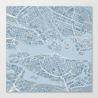stockholm Canvas Prints featuring Stockholm  by Anna Eggertz
