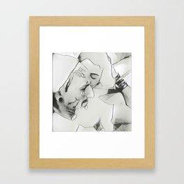 Kissy Love Framed Art Print