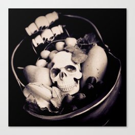 Skull & Fruit Bowl II Canvas Print