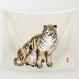 Tiger by Kōno Bairei (1844-1895) japanese art Wall Tapestry