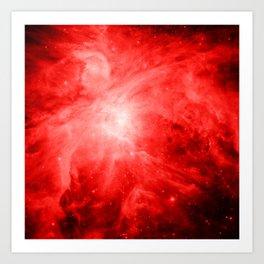 Vibrant Red orion nebula Art Print
