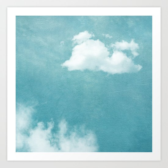 ABOVE ALL CLOUDS Art Print