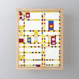 Piet Mondrian Broadway Boogie Woogie Framed Mini Art Print