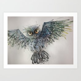 Approaching to you_Owl 5 Art Print