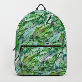 Crystal Emerald Pattern Green Gem 1 Backpack