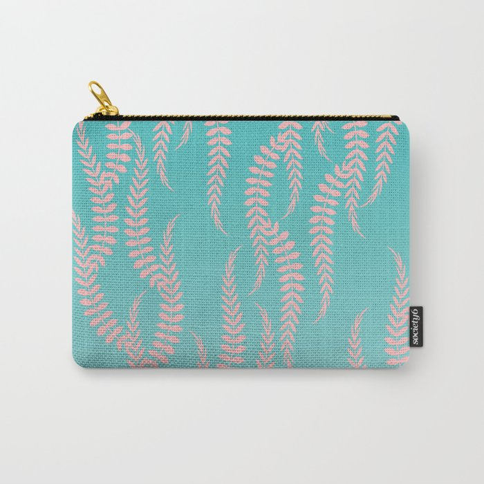 Pastel Leaves Carry-All Pouch
