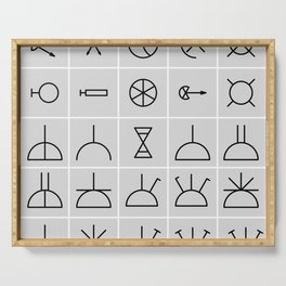 icons electrical symbols Serving Tray