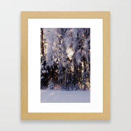 Snowy Winter Wonderland Framed Art Print
