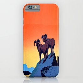 Illustrated Wild Life Preserve Print iPhone Case
