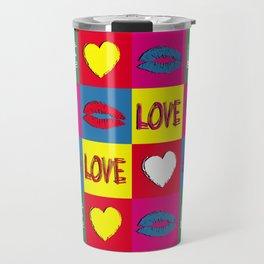 Pop art love Travel Mug