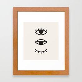 Eye Chart Framed Art Print