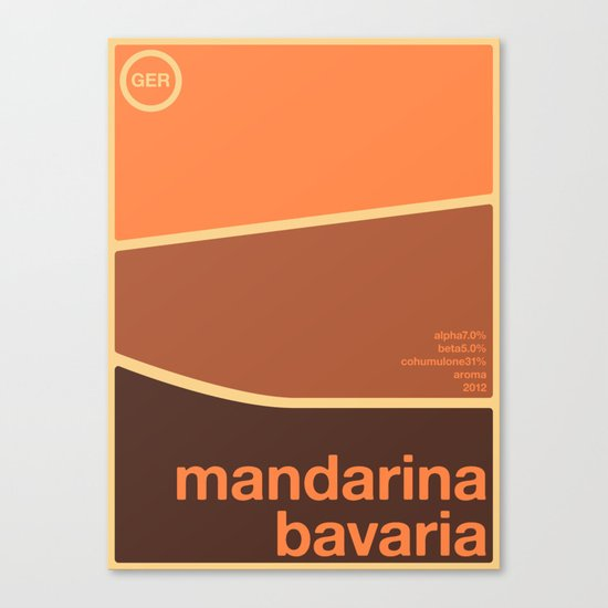 mandarina bavaria single hop Canvas Print