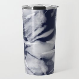 dark blue tie dye Travel Mug