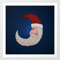 santa Art Prints featuring Santa  by Brandy Coleman Ford