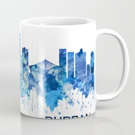 Durban South Africa Skyline Blue Coffee Mug