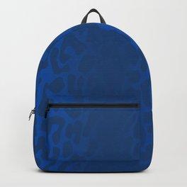 Blue Shadowed Leopard Print Backpack