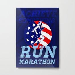 American Marathon Achieve Something Poster Metal Print