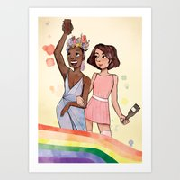 ICONS: Marsha & Sylvia  Art Print