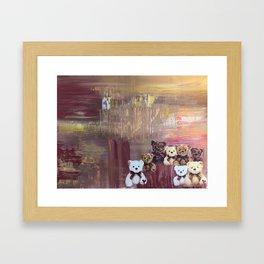 Judgemental bears Framed Art Print