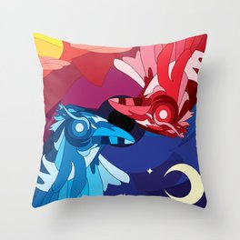 Dawn and Dusk Throw Pillow