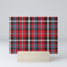 Scottish Tartan Plaid Checkered Pattern Mini Art Print
