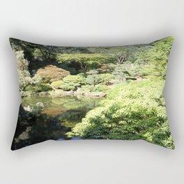 Garden Pond Rectangular Pillow