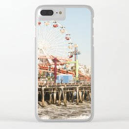 Santa Monica Pier California Clear iPhone Case