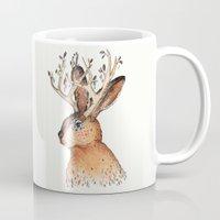 jackalope Mugs featuring Jackalope by Sandra Dieckmann