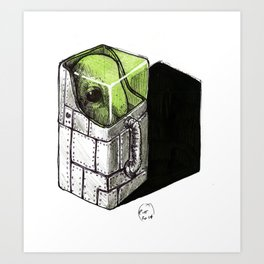 alien in a box Art Print