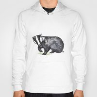 badger Hoodies featuring Badger by ZOO (William Redgrove)
