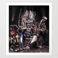 The God of Motorcycling Art Print