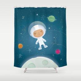 Little Astronaut Shower Curtain